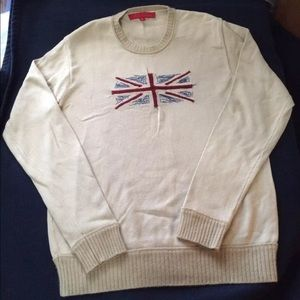 Fcuk Jeans Men's Sweater British Flag Vintage M